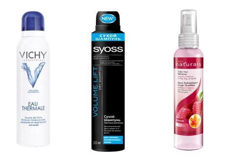 """Термальная вода Vichy,Сухой шампунь Syoss, Освежающий спрей для волос """"Малина и гибискус"""" , Avon"""