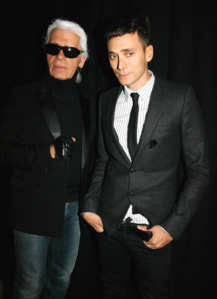 Эди Слиман и Карл Лагерфельд, 2007 год