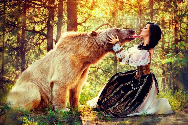 съемка с медведем