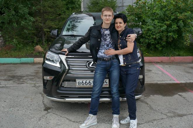 Елена Голунова с сыном