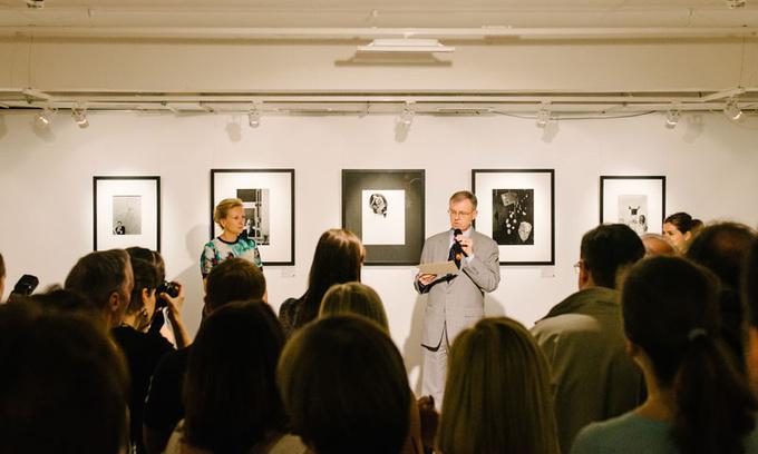 Фотографии с открытия выставки Арнольда Ньюмана в фотогалерее братьев Люмьер 29 мая
