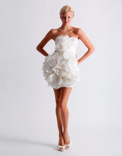 Короткое свадебное платье Marchesa