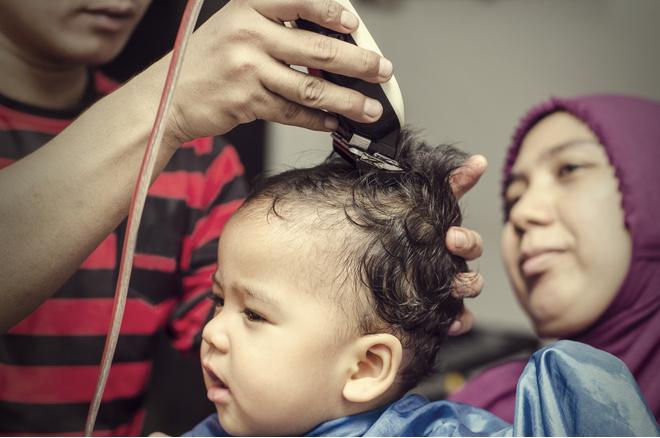 как подстричь малыша
