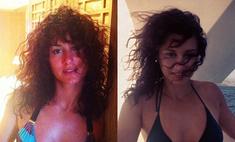 В духе 80-х: Тина Канделаки загорает в откровенном бикини