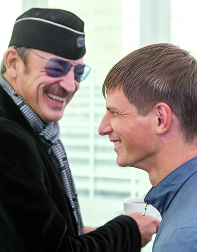 Михаил Боярский и Андрей Аршавин
