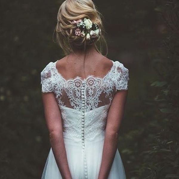 летняя свадебная прическа