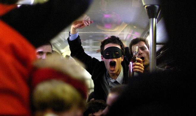 вечеринка в метро