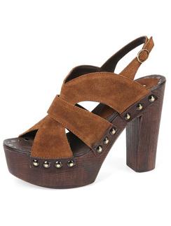 Туфли на деревянной платформе из летней коллекции Mascotte