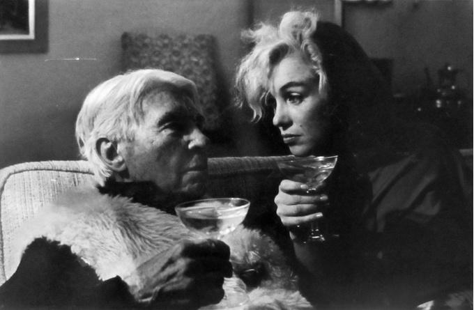 Арнольд Ньюман. Карл Сэндберг и Мэрилин Монро, 1962