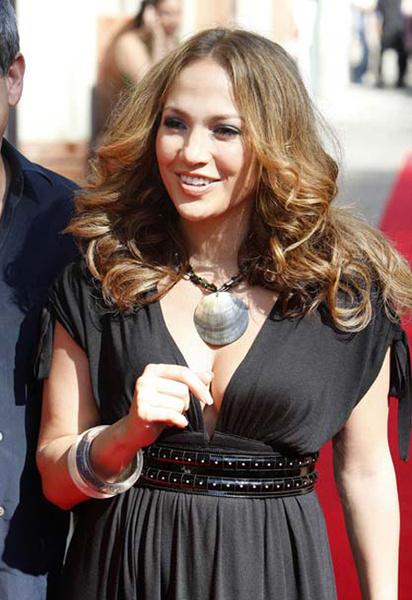 Дженнифер Лопес во время визита в Барселону