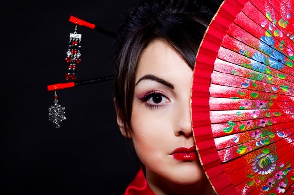 Японский макияж: мастер-класс. Видео