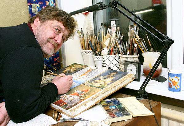 Котов Владимир Румянцев начал рисовать в 1998 году
