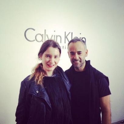 Корреспондент Woman's Day Марианна Милкис с дизайнером Calvin Klein Франциско Коста