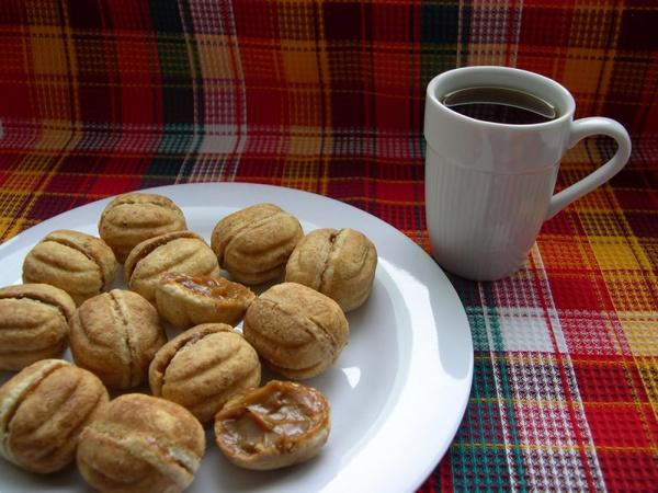 Песочное тесто для орешков со сгущенкой