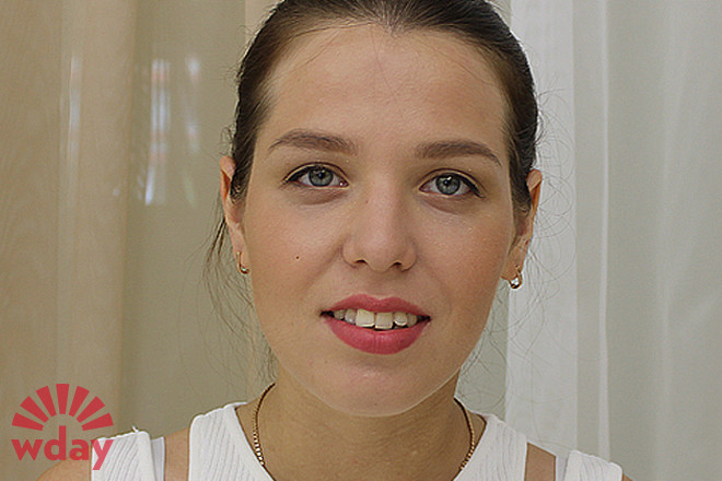 Ксения Кондрашова, макияж до и после, фото