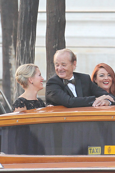 Билл Мюррей на свадьбе Джорджа Клуни