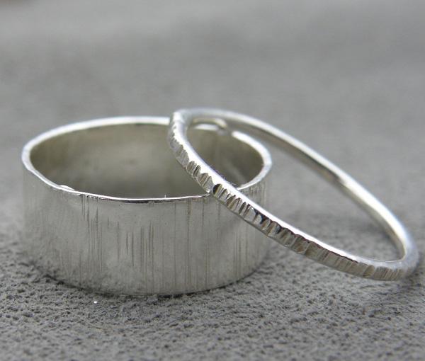 Обручальные кольца из серебра, $62