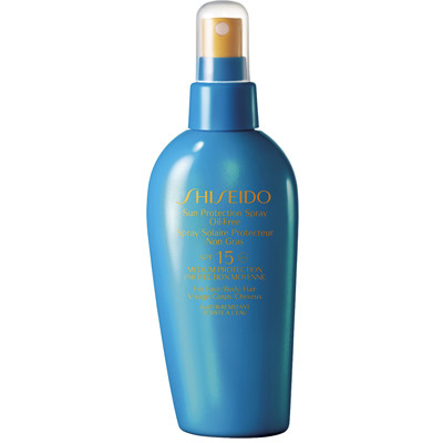 Shiseido, Sun Protection Spray Oil-Free SPF 15, 2300 рублей