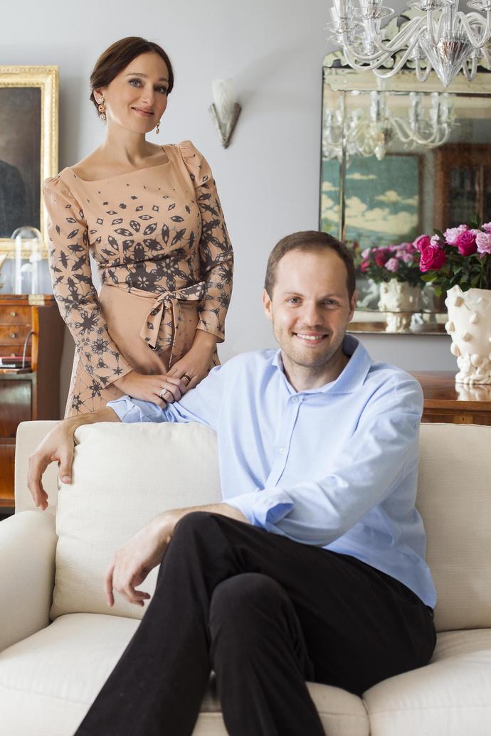 Фотосессия с супругом для французской версии
