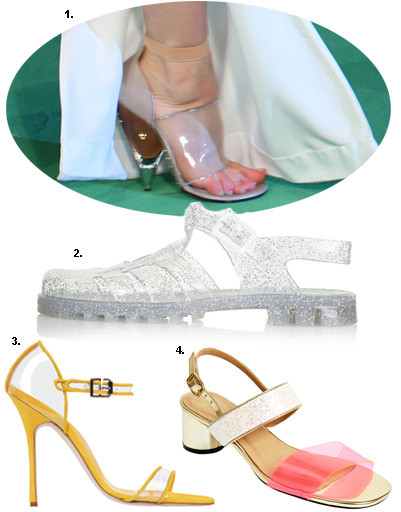 1. Кейт Бланшетт; 2. сандалии Topshop; 3. туфли Manolo Blahnik; 4. босоножки Asos