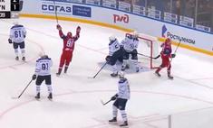 шайба хоккеист российского клуба забил острого угла видео