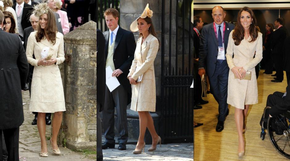 Кейт Миддлтон в 2006, 2011 и 2012 году