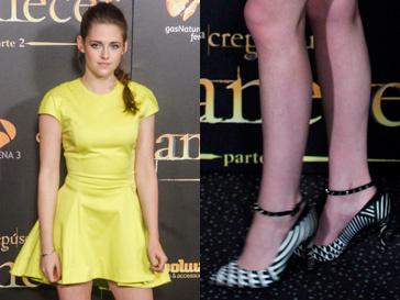 """Кристен Стюарт (Kristen Stewart) появилась на премьере """"Сумерки. Сага. Рассвет. Часть 2"""" в ярком желтом платье от Dior"""