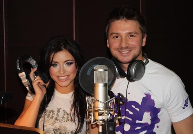Сергей Лазарев и Ани Лорак на записи песни.