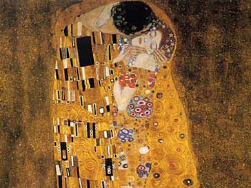 «Поцелуй» Густава Климта наиболее популярен у романтически настроенных интернет-пользователей
