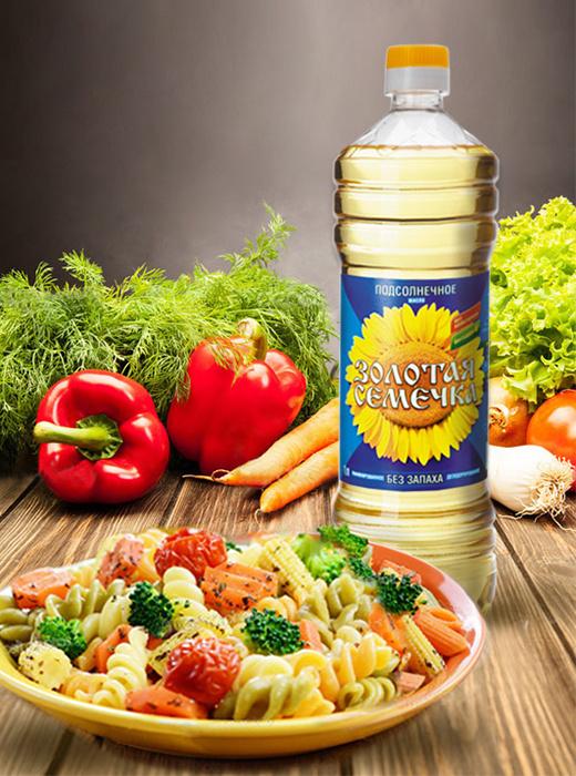 салат, подсолнечное масло, постные рецепты, Золотая Семечка, масло