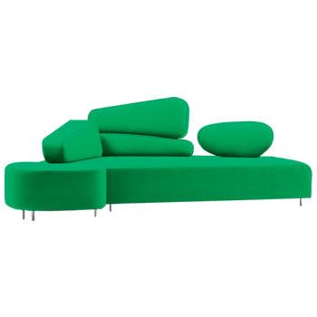 Диван Mosspink модного сочно-зеленого оттенка из коллекции Innovation, Brühl, галереи Neuhaus.