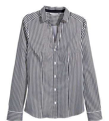 Эластичная рубашка в полоску