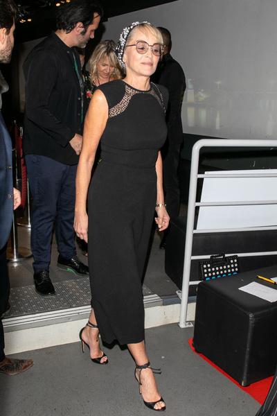 Шэрон Стоун обтянула складки на талии неудачным платьем