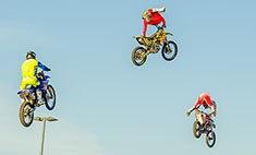 Мотошоу в Рязани: «танцы» на мотоцикле и «полеты» на велосипедах