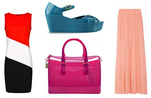 Платье Mango, туфли Moschino, сумка Furla, юбка Tibi