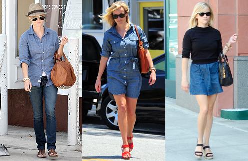"""Риз Уизерспун прекрасно обходится своим """"джинсовым набором""""."""