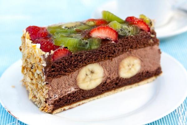 Рецепт бананового бисквита