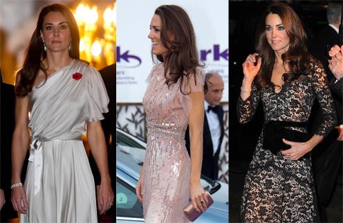 Кейт Миддлтон (Kate Middleton) выбирает для красных ковровых дорожек струящиеся платья в пол классических цветов