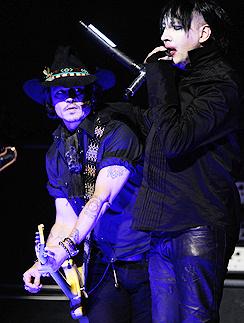 Джонни Депп (Johnny Depp) и Мэрилин Мэнсон (Marilyn Manson)