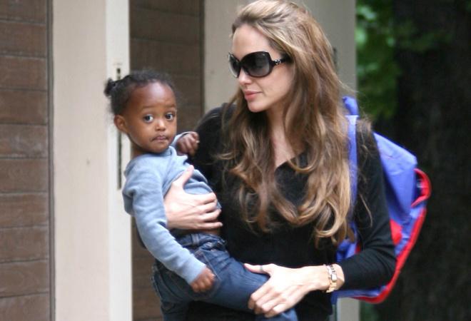 Анджелина Джоли с дочкой, фото