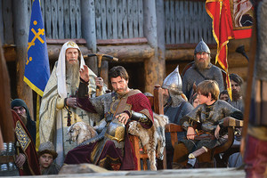Декорация княжеского терема для сериала Золотая Орда