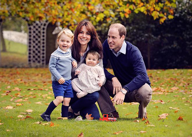 принц Уильям Уэльский и Кейт Миддлтон с детьми