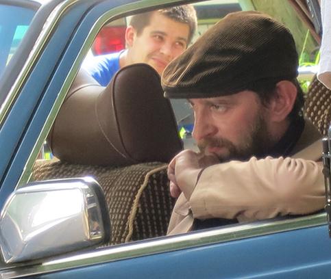 Хабенский на съемках в Нижнем Новгороде