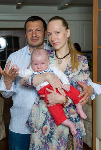 Владимир и Эльга с маленьким Володей.
