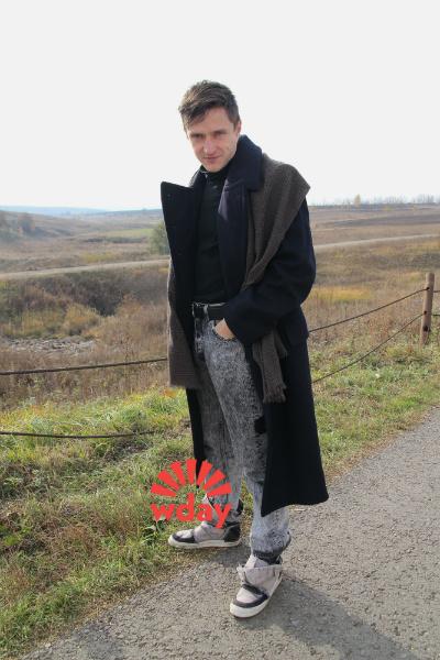Юрий Чурсин на съемках сериала «Степные волки» в Туле