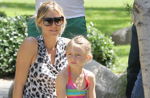 Хайди Клум (Heidi Klum) с дочерью Хелен
