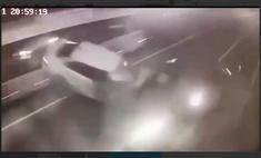 Момент аварии с Ксенией Собчак попал на видео