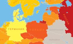 Карта: сколько часов жители разных стран отрабатывают за год