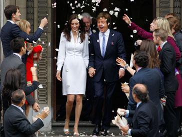 Нэнси Шевел выходила замуж в платье от Стеллы Маккартни