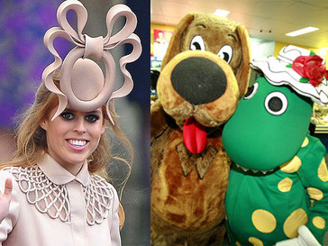 принцесса беатрис, Филипп Трейси, динозавр Дороти, шляпа